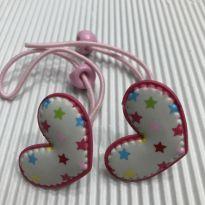 Maria Chiquinha - Formato coração com estampa estrelas - Pink/Rosa -  - Desconhecida
