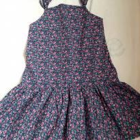 Vestido Florido Azul - 5 anos - Figurinha