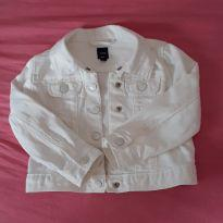 Jaqueta Jeans Branca Gap - 3 anos - Baby Gap
