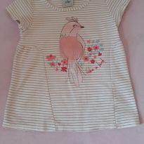 Camisetinha Pássaro - 4 anos - Poim, Cherokee e Up Baby