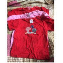 kit camisetas - 6 a 9 meses - Não informada