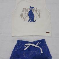 Conjuntinho canguru azul - 3 a 6 meses - Nini e Bambini