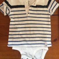 Body Camiseta Polo Carter`s - 18 meses - Carter`s