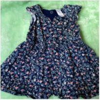 Vestido Florido Azul - 6 meses - Carter`s