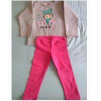 Conjunto blusa e calça moletom - 3 anos - Elian