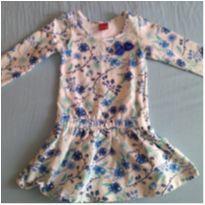 Vestidinho com flores azuis - 3 anos - Kyly