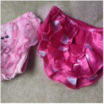 Calcinhas rosas - 3 a 6 meses - Não informada
