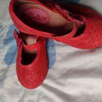 Sapatilha bebê vermelha - 20 - Grendene