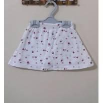 saia short branca com estampa de flores - 9 a 12 meses - Boulevard Baby