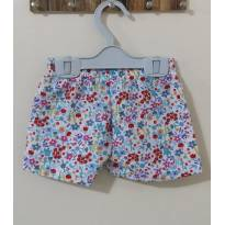 short Estampado flores tactel - 9 a 12 meses - Mafessoni