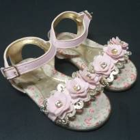 Sandália rosa floral com strass - 20 - Orto baby