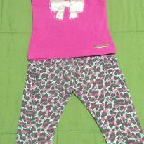 Conjunto calça de oncinha e blusinha - 1 ano - Diversos