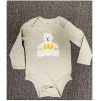 Body cinza manga cumprida GAP - 18 a 24 meses - Baby Gap