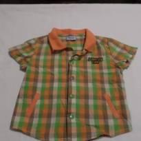 Camisa sport xadrez - 3 a 6 meses - Baby Way