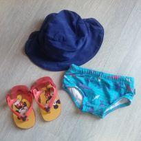 Sunga chapéu e chinelo - kit verão havaiana e hering - 18 meses - Havaianas e Hering