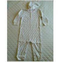 Macacão sem pé Baby B`gosh 24M Menina Branco/Azul - 24 a 36 meses - Baby B'gosh