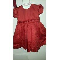 vestido lindo vermelho - 12 a 18 meses - Não informada