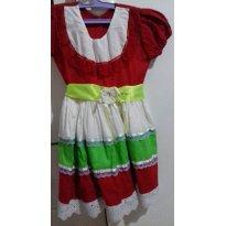 vestido festa junina - 3 anos - Feito à mão