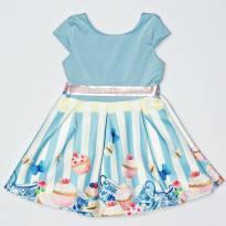 Vestido Cupcake Azul - 2 anos - By Gus