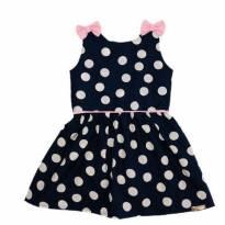 Vestido Poá Marinho - 2 anos - By Gus