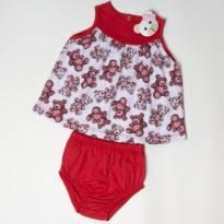 Vestido Urso Baby - 9 a 12 meses - By Gus