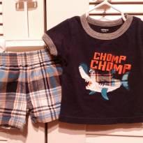 Conjunto camiseta e shorts - 6 meses - Carter`s