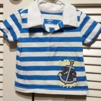 Camiseta de algodão Carters - 6 a 9 meses - Carter`s
