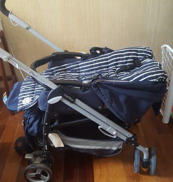 Carrinho de bebe peg perego switch + Moisés com suporte - Sem faixa etaria - Peg Pérego e Peg Pereggo