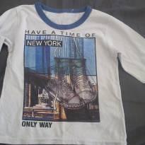 Camiseta Manga longa - 3 anos - Não informada