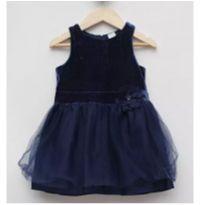 vestido azul com tule carters