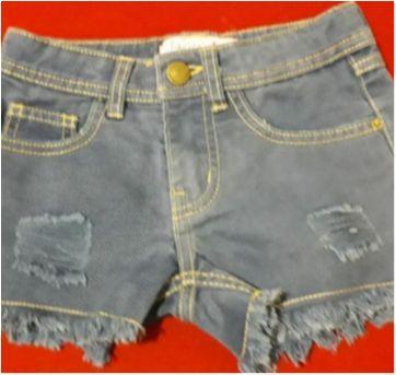 Shortinho Jeans - 4 anos - Figurinha Boys