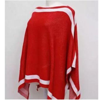 Poncho vermelho feminino Mamãe - M - 40 - 42 - sem etiqueta