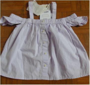 Blusa Ciganinha  Zara Girls lilás - 8 anos - Zara