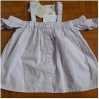 Blusa Ciganinha  Zara Girls lilás