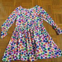 Vestido bolinhas coloridas Mangas longas - 5 anos - Est. 1989