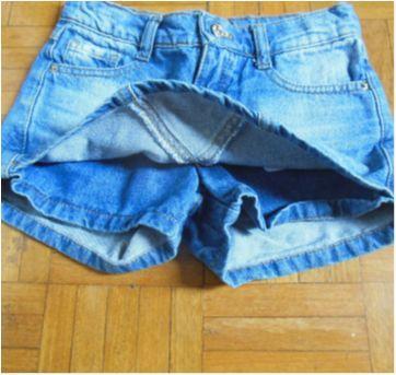 Short Saia Jeans - 6 anos - Palomino