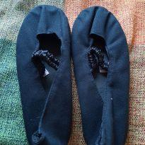 Sapatilha de tecido preta - 31 - Artesanal