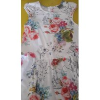 Primavera - vestido Florido - 12 anos - Malwee