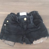Shorts Preto - 5 anos - Pituchinhus