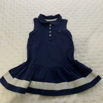 Vestido Azul Marinho e Branco Tommy Hilfiger - 3 anos - Tommy Hilfiger