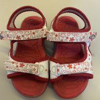 Sandália Klin branco e vermelho - 24 - Klin