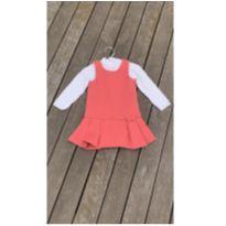 Vestido Chicco 2 peças tamanho 15 meses - 12 a 18 meses - Chicco