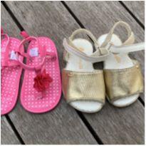 2 sandálias bebê, tamanho 17,18 - 17 - Pampili e stepping stones (EUA)