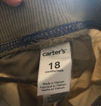 Calcça com Ribana no cós - 18 meses - Carter`s