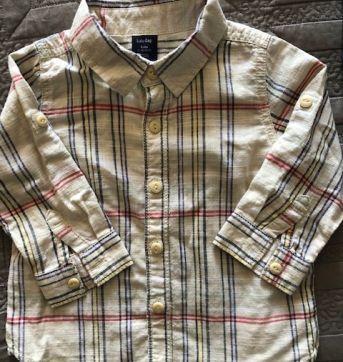 Camisa Xadrez em Linho Gap - 12 a 18 meses - GAP