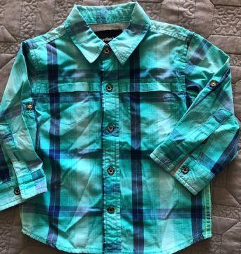 Camisa Xadrez CK - 12 a 18 meses - Calvin Klein