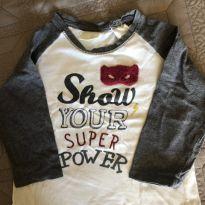 Camiseta Manga Longa - 6 a 9 meses - Zara Baby