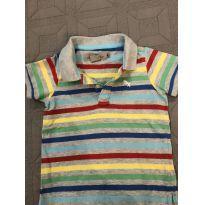 Camiseta Polo Listrada - 12 a 18 meses - LOGG da H&M