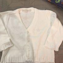Casaquinho Branco Batizado - 9 a 12 meses - Silmara