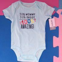 Body Carters Mommy Daddy - 1 ano - Carter`s